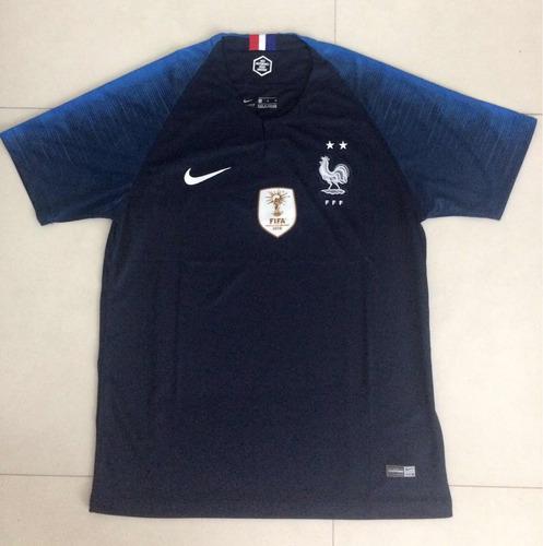 Camisa Da França 2018 2 Estrelas E Patch De Campeão. R  149 00213127feb31
