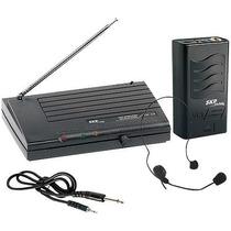 Microfone Sem Fio Headset Vhf855, Alcance 50m Em Espaço Abe