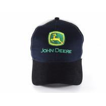 Boné John Deere Azul Preto Branco Original Rede Western Wear