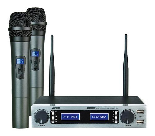 Kit De Microfones Vokal Vlr-502 Dinâmico Preto