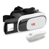 Óculos Realidade Virtual 3d Com Controle - Vr Box 2.0