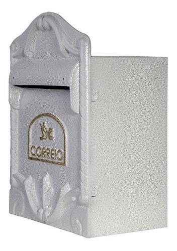 Caixa De Correios (38x28cm) Correspondência Jornal Revista Para Grade Portão Ou Muro Colonial Alumínio Fundido