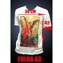 Camiseta Personalizada Com Estampa 30x42 - Frente E Costa