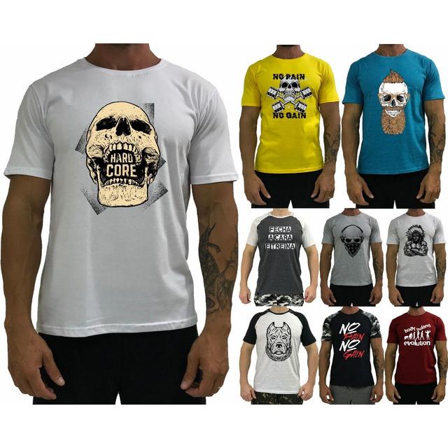 Camiseta Masculina Blusa T-shirt Camisa Camisetas 9 Unidade em ... 6e21e1c607d