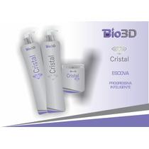 Kit Escova Cristal 500 Ml Do Ativo + Shampoo - 10 Aplicações