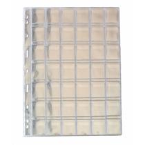 Folha Plástico Moedas 42 Divisões Pccb/mingt Com Aba (49459)