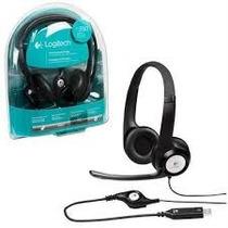 Headset H390 Preto Usb Para Pc Logitech Original