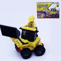 Bloco Montar (079pcs) 18,5x13cm Retroescavadeira Compt. Lego