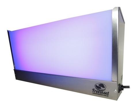 Kit 8 Armadilhas Luminosas 4 Lâmpada -inox Escovado - Mosca