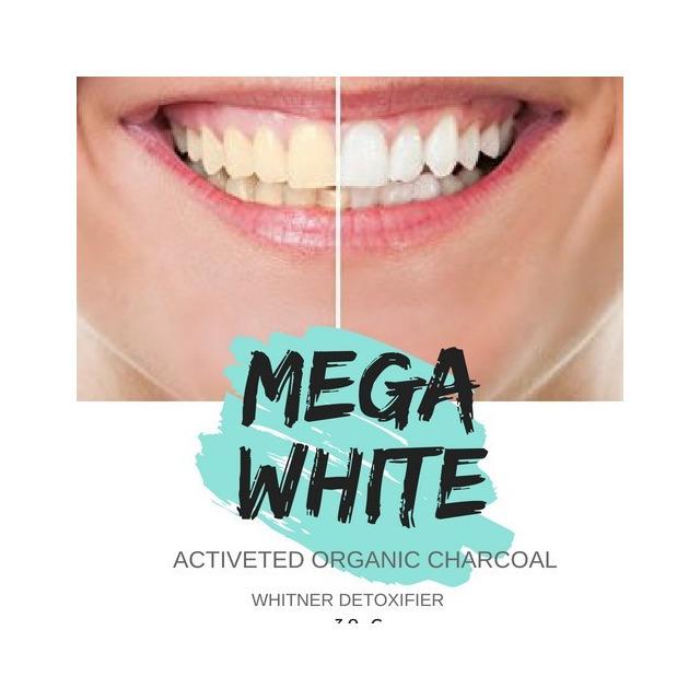 Kit 03 Unid Po Clareador Dental Carvao Ativado Mega White Em