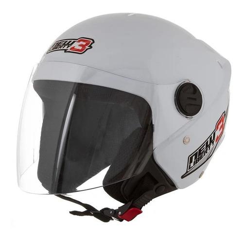 Capacete Para Moto Aberto Pro Tork New Liberty Three Branco Tamanho 56