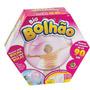 Big Bolhão + Bomba De Ar Á Pilha - Bola 90 Cm Dtc 3563 Rosa