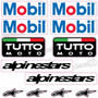 Kit Adesivos Capacete Mobil Alpinestars Refletivo Ktcp93