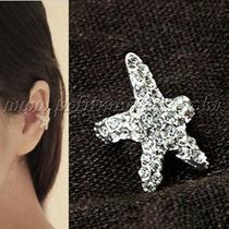 Ear Cuff Estrela Do Mar - Prata E Dourado