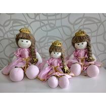 Kit Trio Bonecas De Pano Julia Princesa Rosa Para Nicho