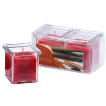 Kit Com 2 Velas Em Vidro Aromatizadas - Canela