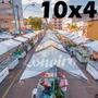 Lona 300 América Branca Impermeável P/ Barraca De Feira 10x4