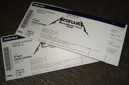 Ingresso Metallica Belo Horizonte Bh 2020