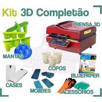 Kit Prensa Termica 3d Completão P Sublimaçao Loja Fis Na 25