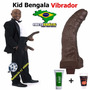 Kid Bengala Penis Vibrador Pinto Rola Consolo Negro - 32cm