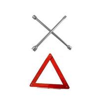 Triangulo P/ Carro - Sinalização De Segurança +chave De Roda