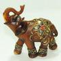 Elefante Resina Imita Madeira Indiano Sabedoria Sorte