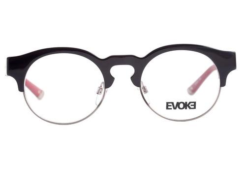 Evoke Capo Iii - Óculos De Grau H01 Black Shine Temple Purpl 05189d7d8f