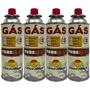 Kit 4 Cartuchos Tube Gas Guepardo Com Válvula De Segurança