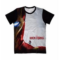 Camisa, Camiseta Anime - Homem De Ferro E Homem Formiga