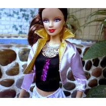 Casaco Fashion P/ Boneca Barbie + Sapato * Jaqueta * Roupa