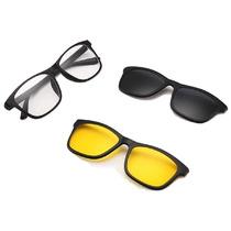 4cac7a9f8 Busca Armação Óculos 3 Em 1 Clip On Sol Noite Preto Tr90 T153 Mj com ...