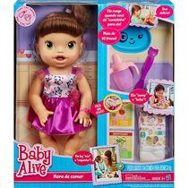 Boneca Baby Alive Morena Hora De Comer Hasbro