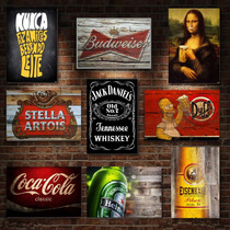 Placas Decorativas Mdf -30x20cm - Retrô Vintage Bebidas Bar