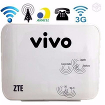 Roteador Vivo Box Zte® Mf23 Modem Wi-fi Voz Chip 3g
