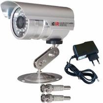 Câmera Vigilância Infravermelho + Fonte + 2 Conectores