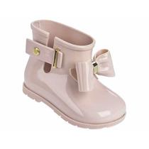 Bota Mini Melissa Sugar Rain Bow Galocha, Laço X31815