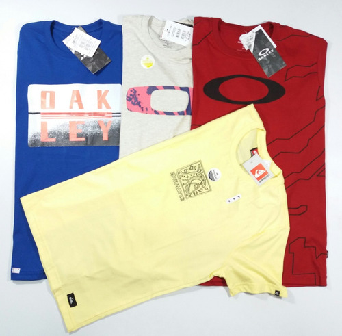 1e7ae48634c1c Kit 10 Camisa Camiseta Blusa Masculina Oakley Atacado Roupas