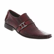 Sapato Social Verniz Masculino Gofer Couro Legítimo 0566