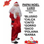 Roupa Fantasia De Papai Noel Adulto - Xgg Até O Tamanho 64