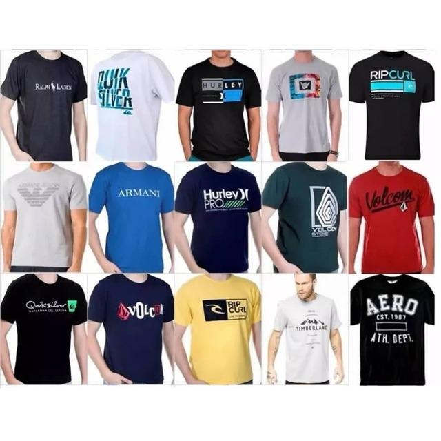853a5b0ae Kit 12 Camiseta Camisa Blusa Masculina De Marca Atacado em Congonhas ...