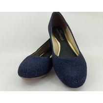 Sapatilha Lurex Azul Glitter - Sp002 - Promoção