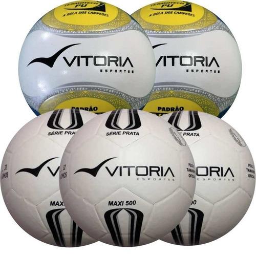Bola De Futsal Oficial 5 Unidades 3 Prata + 2 Pu c9d2b57c6c346