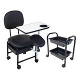 Cadeira Manicure Cirandinha Com Suporte E Cm2 Preto Facto