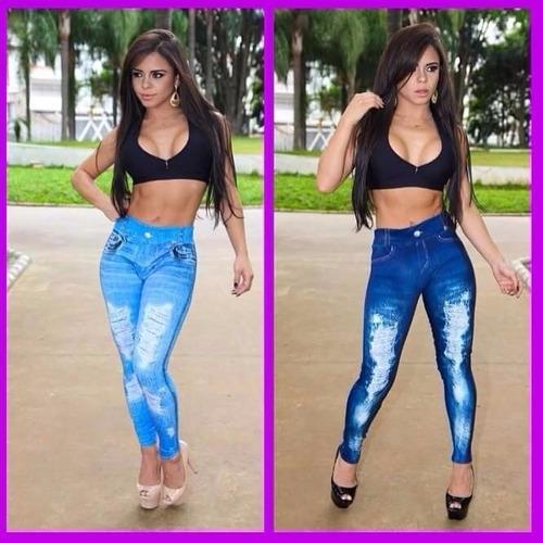 a2e8c9eeac Calça Legging Jeans Feminina Sublimada Kit 20 Peças.