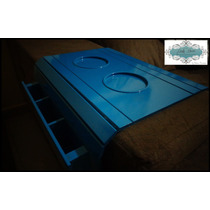 Esteira Bandeja Para Sofá / Porta Controle Azul