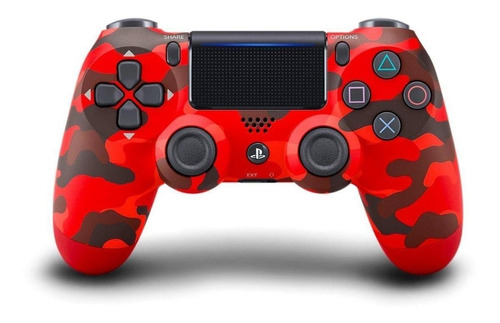 Controle Joystick  Sem Fio Sony Dualshock 4 Red Camouflage