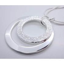 Colar Prata 925 Esterina Formato Pingente 2 Anéis