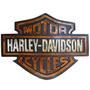 Placa Decorativa Emblema Harley Davidson Resina Relevo Retro