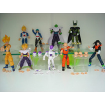 Dragon Ball Z 9 Bonecos Articulados Freeza Goku Gohan Trunks
