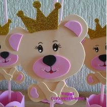 fd931a78e8 10 Centros   Enfeites De Mesa Ursinha Princesa Rosa Eva à venda em ...